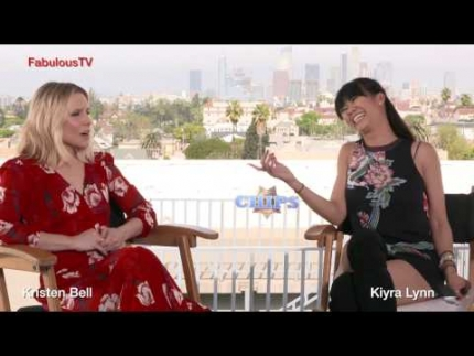 "Kristen Bell talks about her latest film ""CHIPS"" on..."