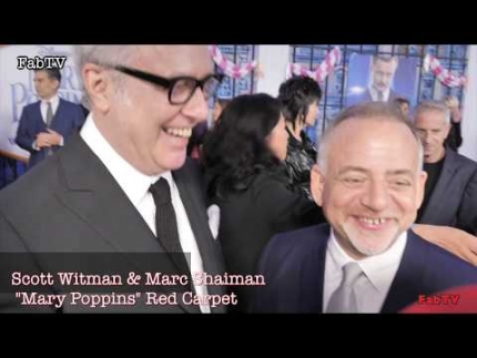 "Scott Witman & Marc Shaiman ""Mary Poppins Returns""  World Premiere"