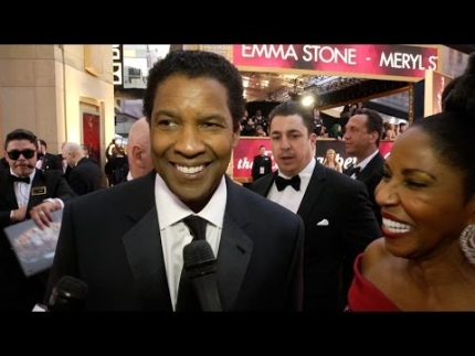 Denzel Washington & Pauletta Washington at 89th Academy Awards