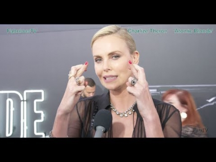 Charlize Theron at her world premiere of 'Atomic Blonde'