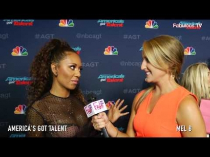 'Mel B' asked a tough question about 'America's Got Talent' 2016 on FabulousTV