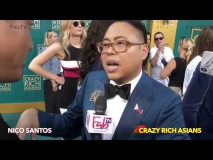 "Nico Santos at the ""Crazy Rich Asians""  premiere"