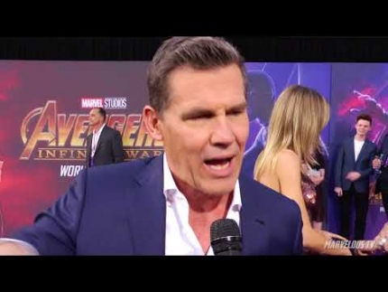 Avengers Infinity War Red Carpet with  Josh Brolin telling it how it...