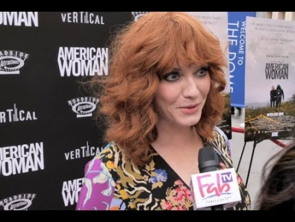 "Christina Hendricks at the ""AMERICAN WOMAN""  premiere"