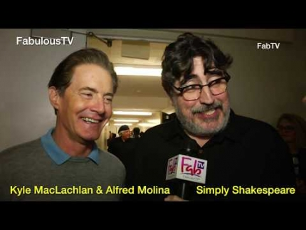 Kyle MacLachlan & Alfred Molina at 'Simply Shakespeare' event at UCLA on FabulousTV