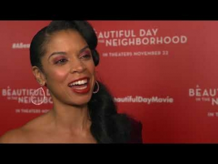 "Susan Kelechi Watson arrives at the ""A Beautiful Day in the Neighborhood"""