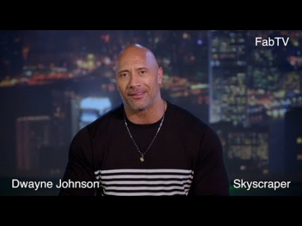 "Dwayne Johnson talks about the physical part of ""Skyscraper"""