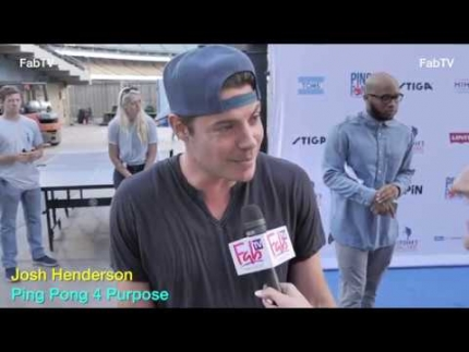 Josh Henderson 'Ping Pong 4 Purpose' on FabTV
