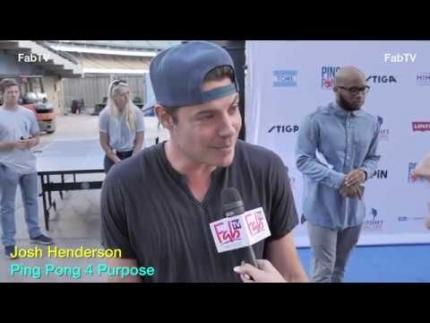 Josh Henderson 'Ping Pong 4 Purpose' on FabTV