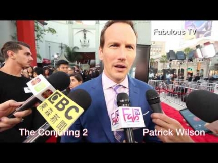 Director James Wan & Patrick Wilson at The Conjuring 2 premiere on Fabulous TV