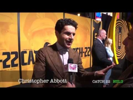 "Christopher Abbott details ""CATCH 22"" at the premiere"