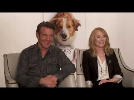 """A Dog's Journey"" Dennis Quaid & Marg Helgenberger"