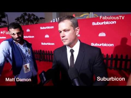 Actor Matt Damon at his 'Suburbicon' Premiere on FabulousTV