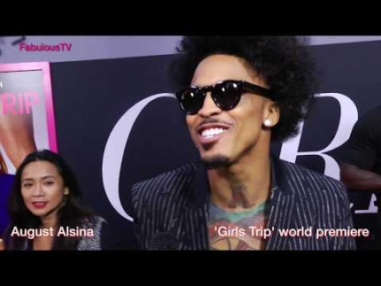 August Alsina at the 'GIRLS TRIP' premiere  on FabulousTV