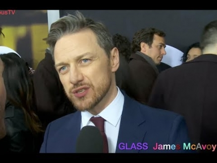 "2nd interview 'James McAvoy' at the ""GLASS""  premiere in NYC"