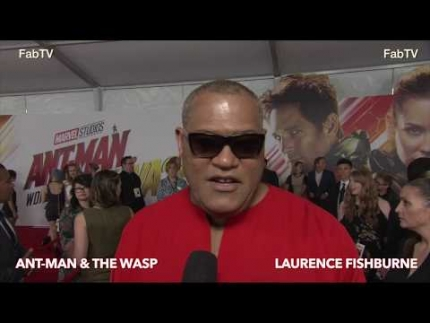 Laurence Fishburne at the 'Ant-Man & WASP' premiere on FabTV