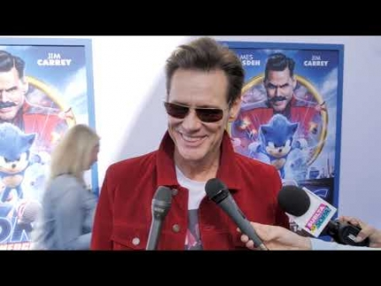 "Jim Carrey arrives at the ""SONIC"" premiere!"