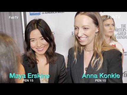 "Maya Erskine  & Anna Konkle  ""PEN 15""  HULU at the WGA"