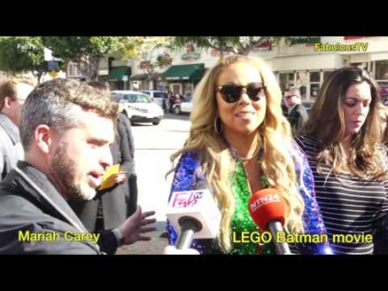EXCLUSIVE: Mariah Carey at 'The LEGO Batman' movie premiere on Fabulous TV