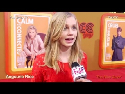 Angourie Rice at \'THE NICE GUYS\' premiere in Hollywood on Fabulous TV