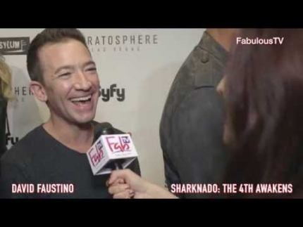 "David Faustino at the ""Sharknado:The 4th Awakens"" on FabulousTV"