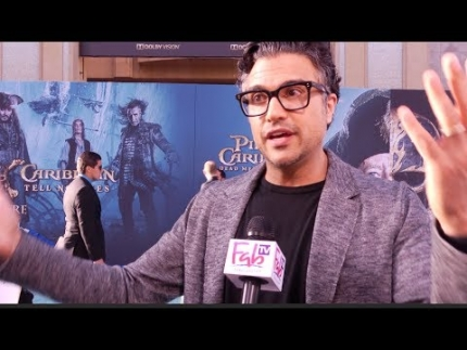 "Jaime Camil from ""Jane the Virgin""at 'Pirates of the Caribbean 5' ocean carpet  on FabulousTV"