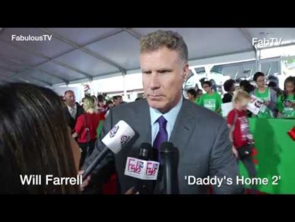 Will Farrell at 'Daddys Home 2' premiere about being a father on FabulousTV