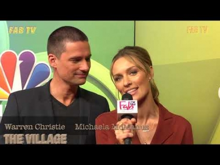 "Warren Christie & Michaela McManus of  ""The Village"" at the NBC Press Tour"
