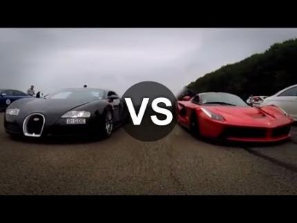 Ferrari LaFerrari Vs Bugatti Veyron Drag Race