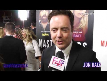Jon Daly at the 'MASTERMINDS' red carpet on FabulousTV
