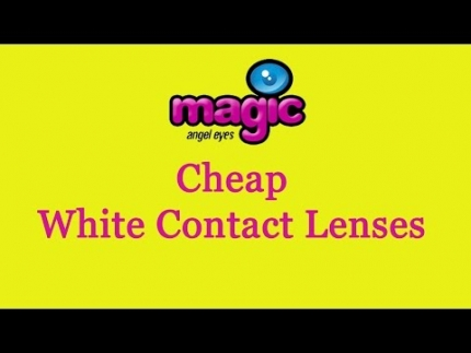 cheap white contact lenses
