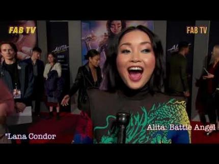 Lana Condor stuns at Alita: Battle Angel  premiere