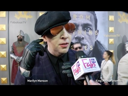 Marilyn Manson at the 'KING ARTHUR' premiere on FabulousTV
