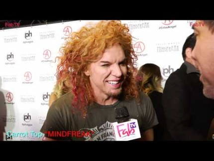 "Carrot Top arrives at the ""MINDFREAK""  Grand Opening at Planet Hollywood!"