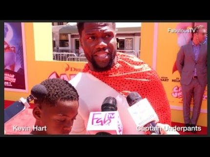 Kevin Hart at 'Captain Underpants' premiere  on FabulousTV
