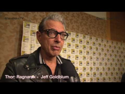 Jeff Goldblum at Comic Con 2017 Thor: Ragnarok on MarvelousTV