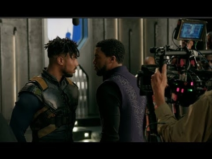 RARE FOOTAGE!  Behind the Scenes making of Black Panther