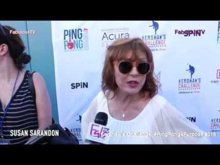 Susan Sarandon at Kershaw's Challenge  #PingPong4Purpose 2016 on Fabulous TV