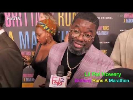 "Lil Rel Howery  arrives at ""Brittany Runs a Marathon""..."