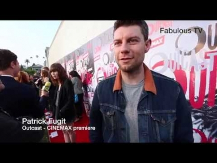 "Patrick Fugit at CINEMAX\'s ""Outcast"" red carpet on Fabulous TV"