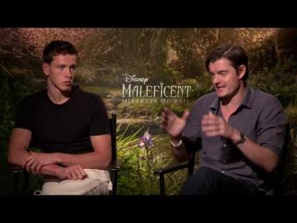"Harris Dickinson & Sam Riley talk ""Maleficent: Mistress of..."