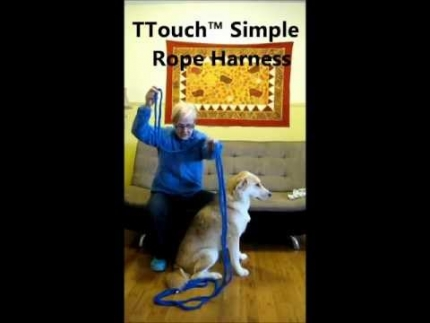 Making a simple rope harness the TTouch way