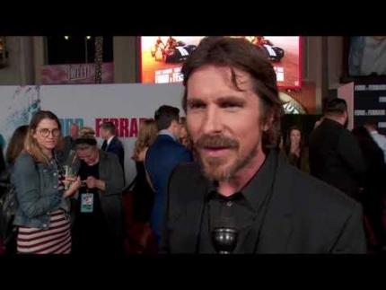 """Ford v Ferrari"" premiere with Christian Bale red carpet LA"