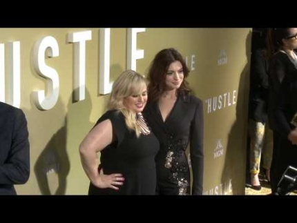 "Rebel Wilson  & Anne Hathaway arrive at the premiere of ""THE HUSTLE"""
