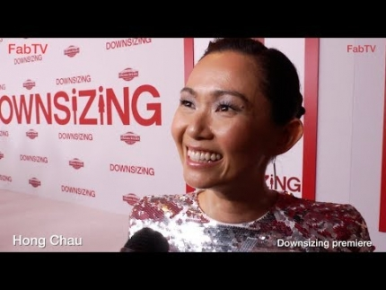 Golden Globe nominee Hong Chau at the 'Downsizing' premiere