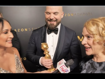 "Chris Butler and Arianne Sutner ""Golden Globe"" WINNERS ""Missing Link"""