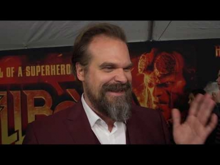 "David Harbour at the ""Hellboy"" red carpet"