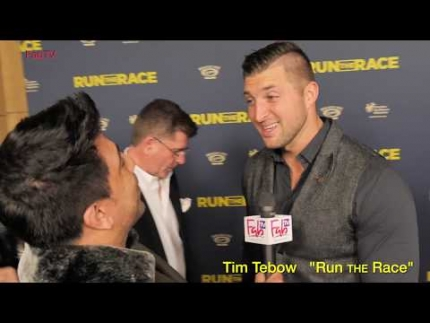 "Tim Tebow at ""Run the Race""  premiere"