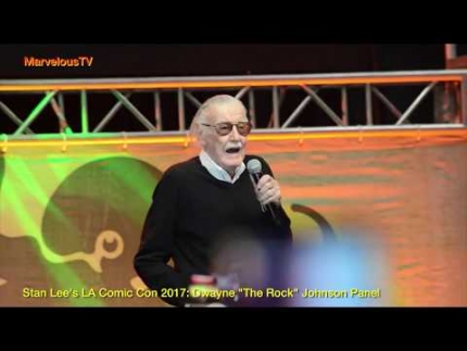 Stan Lee @ Stan Lee's 'LA Comic Con 2017'  Dwayne 'The Rock'  Johnson Panel EXCLUSIVE on MarvelousTV