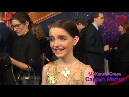 "McKenna Grace excited about being at the ""Captain Marvel""  premiere on FabTV"